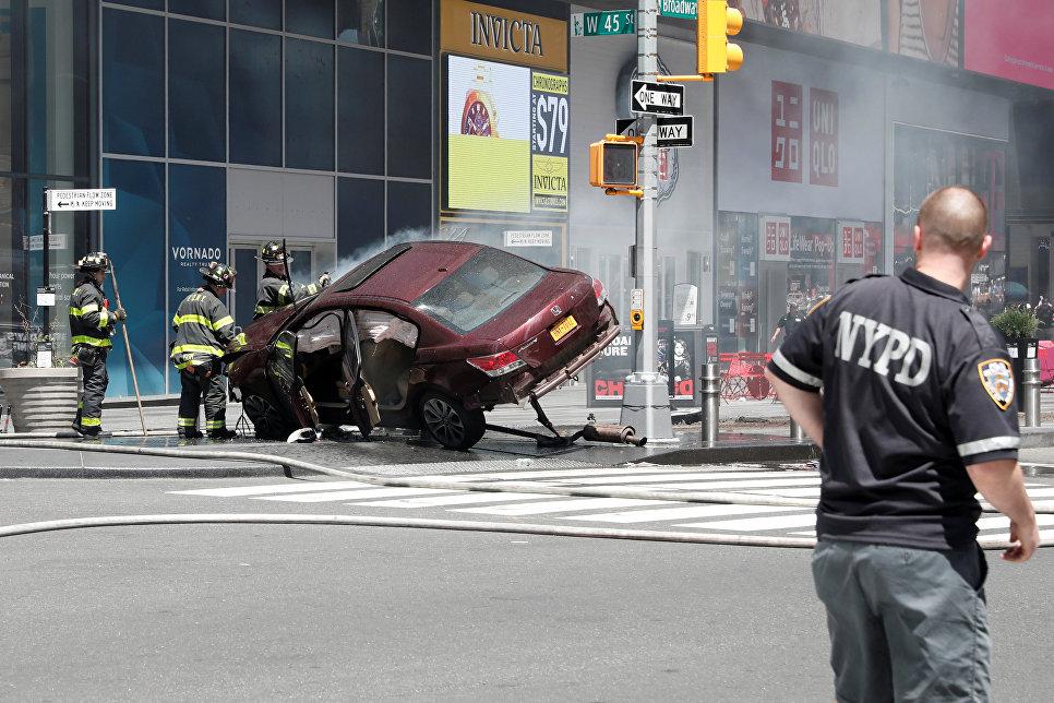 Милиция  Нью-Йорка не нашла  связи инцидента наТаймс-сквер стерроризмом