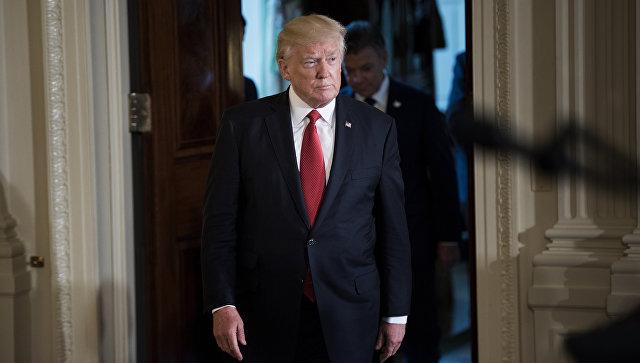 Президент США Дональд Трамп. 18 мая 2017 года