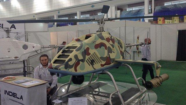 Белоруссия представила на выставке MILEX-2017 разведывательно-ударный вертолет INDELA-I.N. SKY