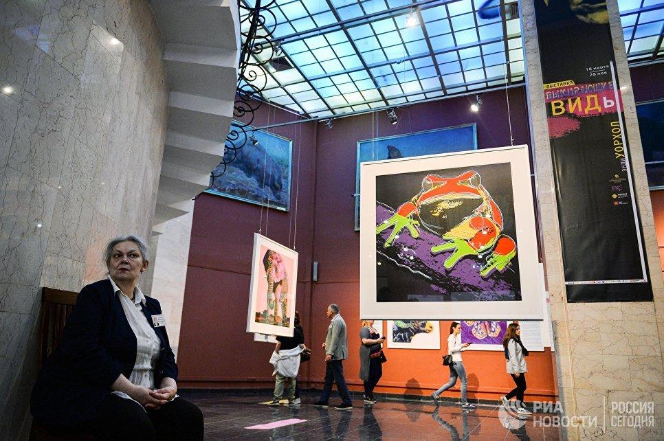 В зале Дарвиновского музея во время международной акции Ночь музеев
