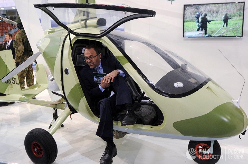 Гирокоптер M24 Orion на 8-й Международной выставке вооружения и военной техники Milex-2017 в Минске
