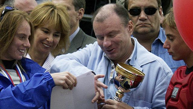 Владимир Потанин и Наталья Потанина с детьми. Архивное фото