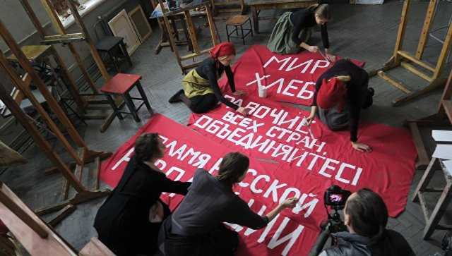 Съемки документального фильма Революция - новое искусство для нового мира
