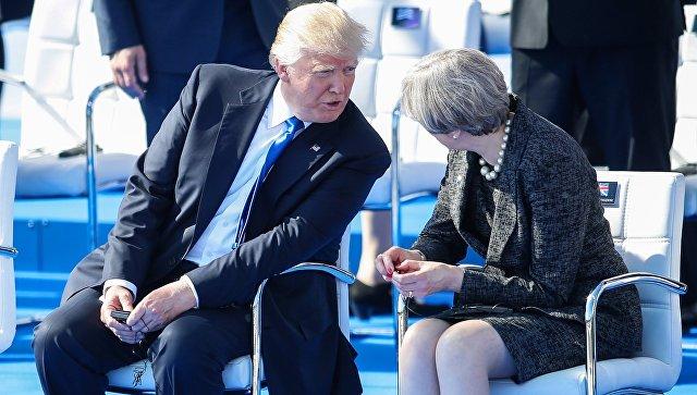 Белый дом анонсировал встречу Трампа и Мэй на следующей неделе в Давосе