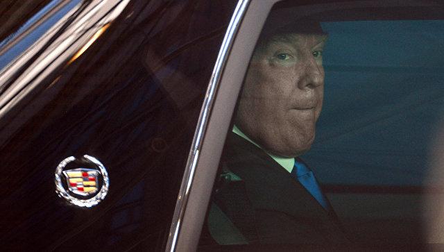 Вглобальной паутине появились шпионские фото лимузина Дональда Трампа