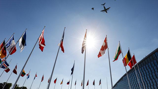 Флаги стран-участниц на саммите НАТО. Архивное фото