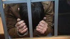 Обвиняемый в подготовке терактов в Москве Ф. Кушаев в Мещанском суде