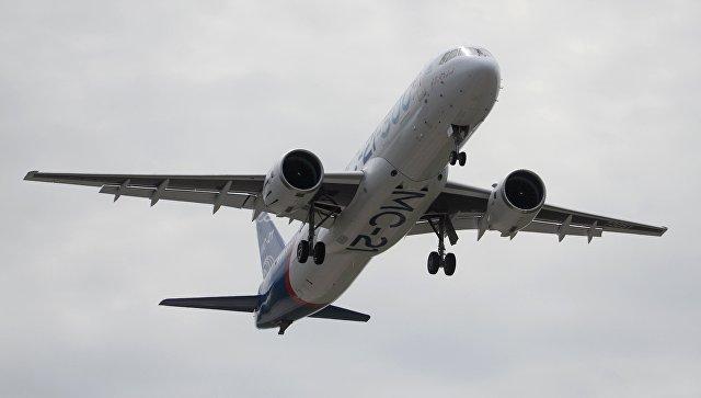 Первый полет нового российского пассажирского самолета МС-21. 28 мая 2017