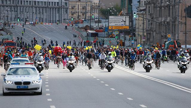 В российской столице 17сентября ограничат движение из-за осеннего велопарада