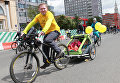 Участники пятого Всероссийского Велопарада в Москве