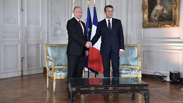 Поиск общих подходов: Путин и Макрон обсудили международную повестку дня