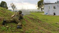 Военнослужащий российской военной базы в Абхазии. Архивное фото