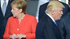 Федеральный канцлер ФРГ Ангела Меркель и Президент США Дональд Трамп. Архивное фото