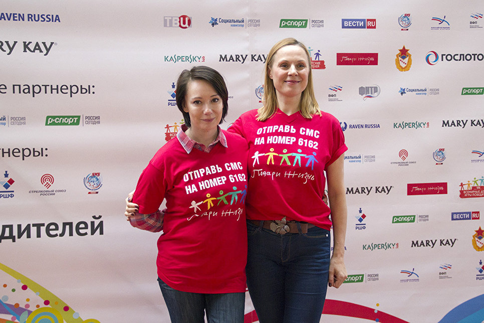 Соучредители фонда Подари жизнь Чулпан Хаматова и Дина Корзун