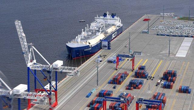 Арктический танкер-газовоз Кристоф де Маржери (ледового класса Arc7), разработанный для проекта Ямал СПГ