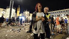 Болельщики Ювентуса на площади Сан-Карло в Турине. 3 июня 2017