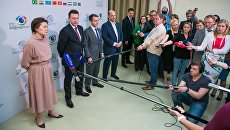 Губернатор Югры Наталья Комарова на IX Международном IT форуме в Ханты-Мансийске. Архивное фото