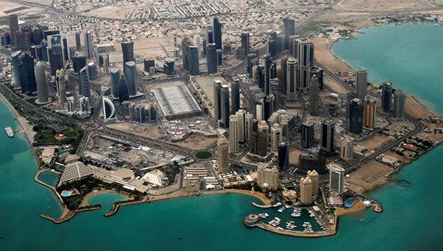 Вид с воздуха на дипломатическую территорию Дохи. Архивное фото