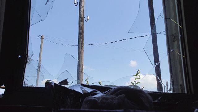 Последствия обстрела со стороны ВСУ . Архивное фото