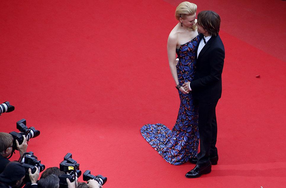 Актриса Николь Кидман со своим мужем Китом Урбаном на 66-м Каннском кинофестивале
