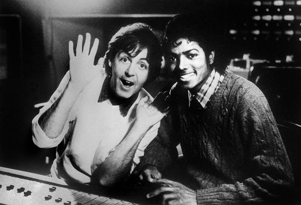 Пол Маккартни и Майкл Джексон. 1983 год