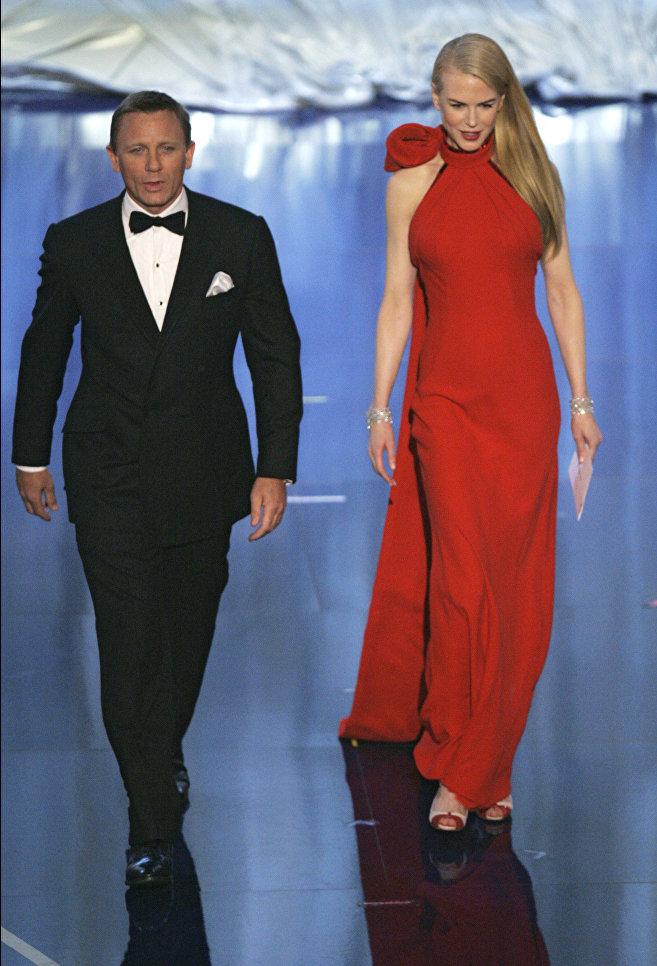 Дэниэл Крэйг и Николь Кидман во время 79-й церемонии вручения наград премии Оскар в Лос-Анджелесе