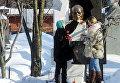 Юлия Хрущева на Новодевичьем кладбище