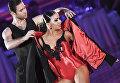 Кирилл Белоруков и Полина Телешова (Россия) выступают на шоу Звездный Дуэт - Легенды Танца! в Кремлевском Дворце в Москве