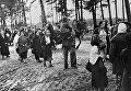 Беженцы идут по дороге