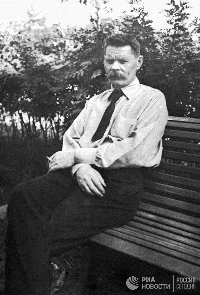 Максим Горький в Берлине, 1921 год.
