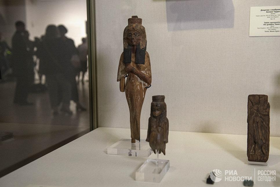 Выставка Нефертари и Долина Цариц из Египетского музея в Турине в Государственном Эрмитаже в Санкт-Петербурге