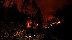 Лесной пожар в Португалии