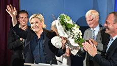 Лидер французского правого национального фронта и кандидат в депутаты Марин Ле Пен