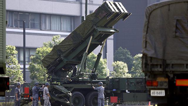 Ракетная установка PAC-3 Patriot, созданная силами самообороны Японии. Архивное фото
