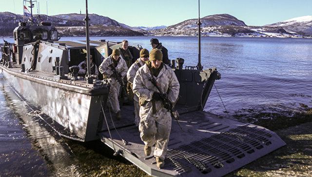 Морпехи США во время учений в Норвегии
