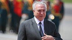 Президент Федеративной Республики Бразилии Мишел Темер. Архивное фото