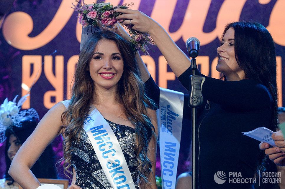 Мисс Алина Головина на всероссийском конкурсе красоты Мисс Русское радио в Барвиха Luxury Village в Москве