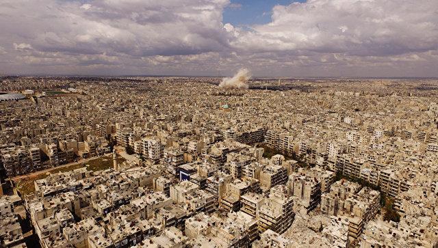 Вид на город Алеппо