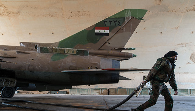 МИД РФ требует расследовать разрушение коалицией Су-22 вСирии