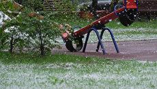 Снегопад. Архивное фото