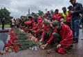 Участники патриотической акции Вахта памяти. Вечный огонь - 2017