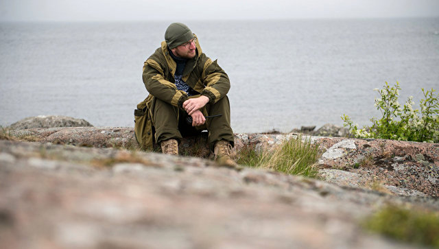 Комендант экспедиции Гогланд на острове Соммерс Алексей Савицкий