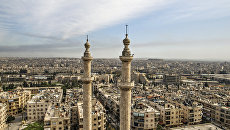 Вид на сирийский город Алеппо. Архивное фото