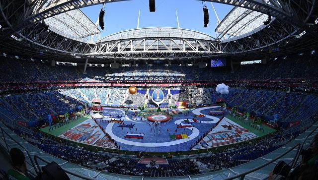 Церемония открытия Кубка конфедераций-2017 в Санкт-Петербурге. Архивное фото