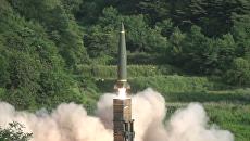 Запуски ракет во время совместных учений США и Южной Кореи