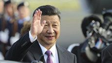 Президент Китайской Народной Республики Си Цзиньпин во время визита в Германию. 4 июля 2017