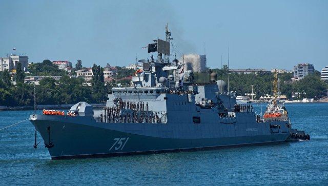Фрегат Черноморского флота Адмирал Эссен. Архивное фото