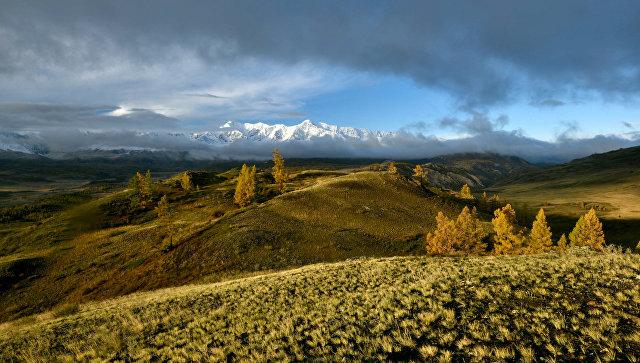 Вид на Курайскую степь в Республике Алтай. Архивное фото