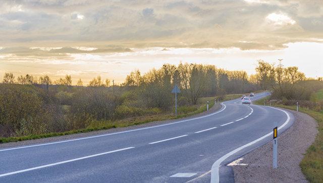 Автомобильная дорога в Латвии. Архивное фото