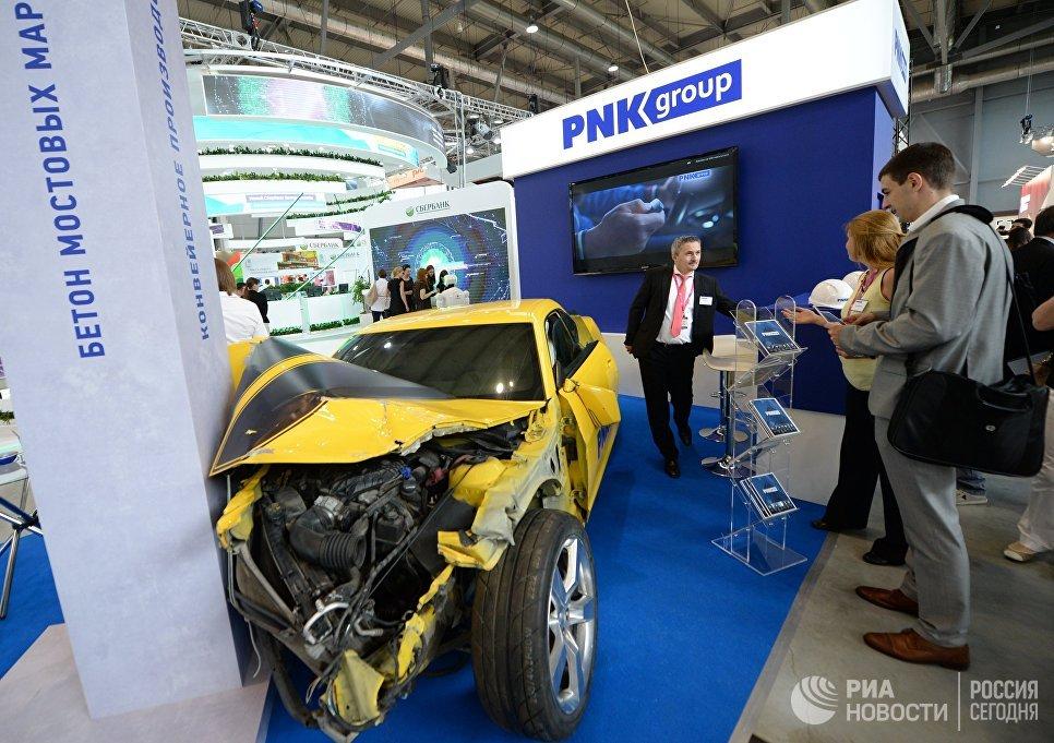 Стенд PNK Group в экспозиции на 8-й Международной промышленной выставке Иннопром - 2017 в международном выставочном центре Екатеринбург-ЭКСПО
